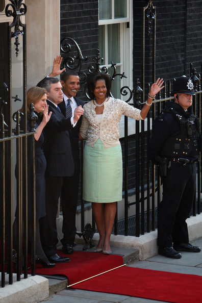 President Obama & First Lady Arrive in London + No. 10 Downing St