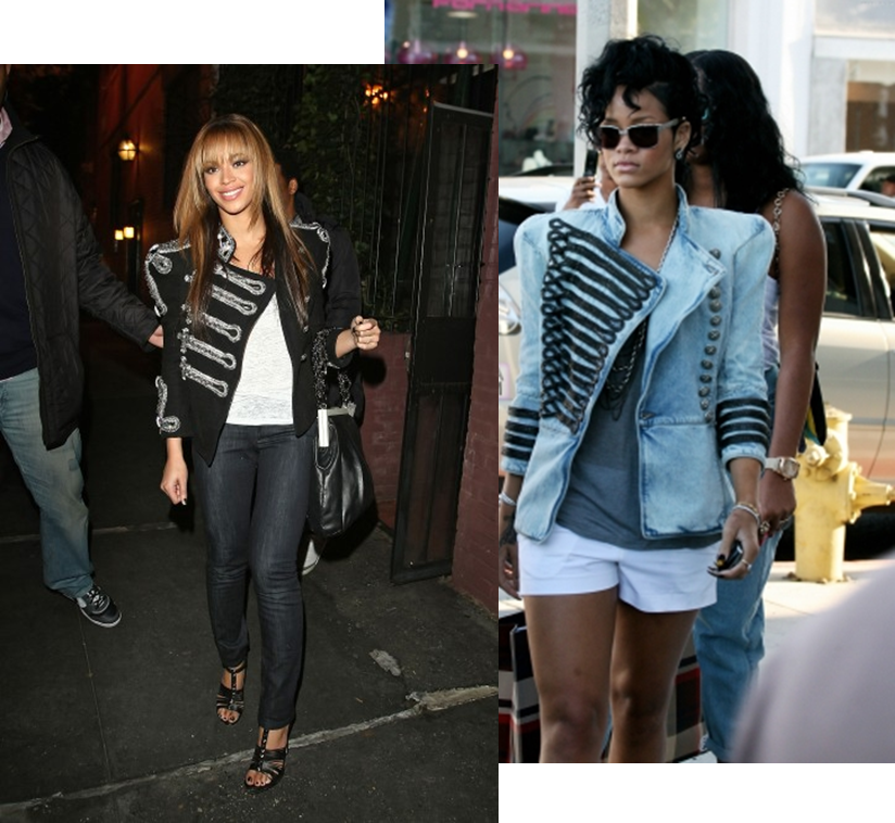 Beyonce & Rihanna have both been spotten wearing SS09 Balmain Michael ...