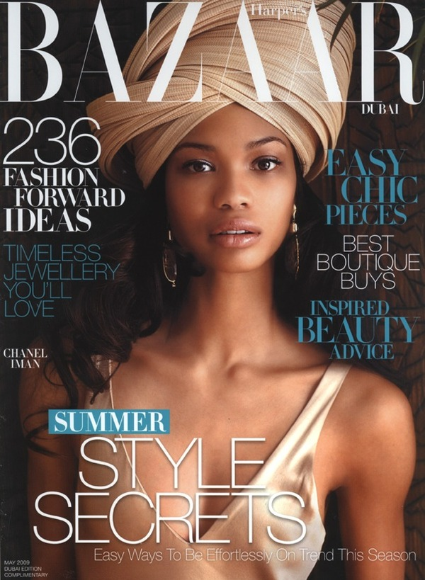 Cover Queen || Chanel Iman covers Harper's Bazaar Dubai – May 2009