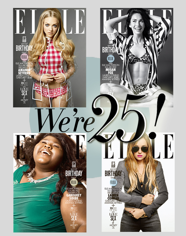 COVER QUEEN // ELLE Celebrates 25 Years x Gabourey Sidibe + More