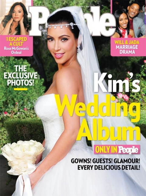 Kim Kardashian's People Magazine Wedding Cover