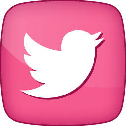 pink twitter icon