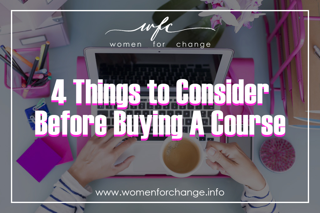 4 Things to Consider Before Buying a Course