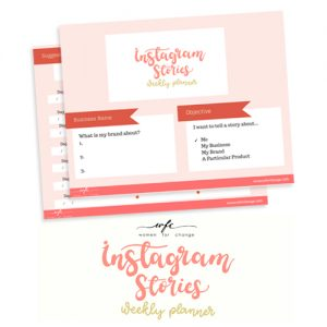 Instagram Stories for Business Weekly Planner Workbook Fillable PDF