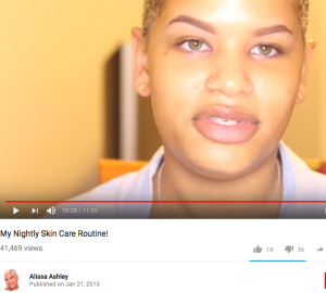 alissa ashley beauty youtuber first video