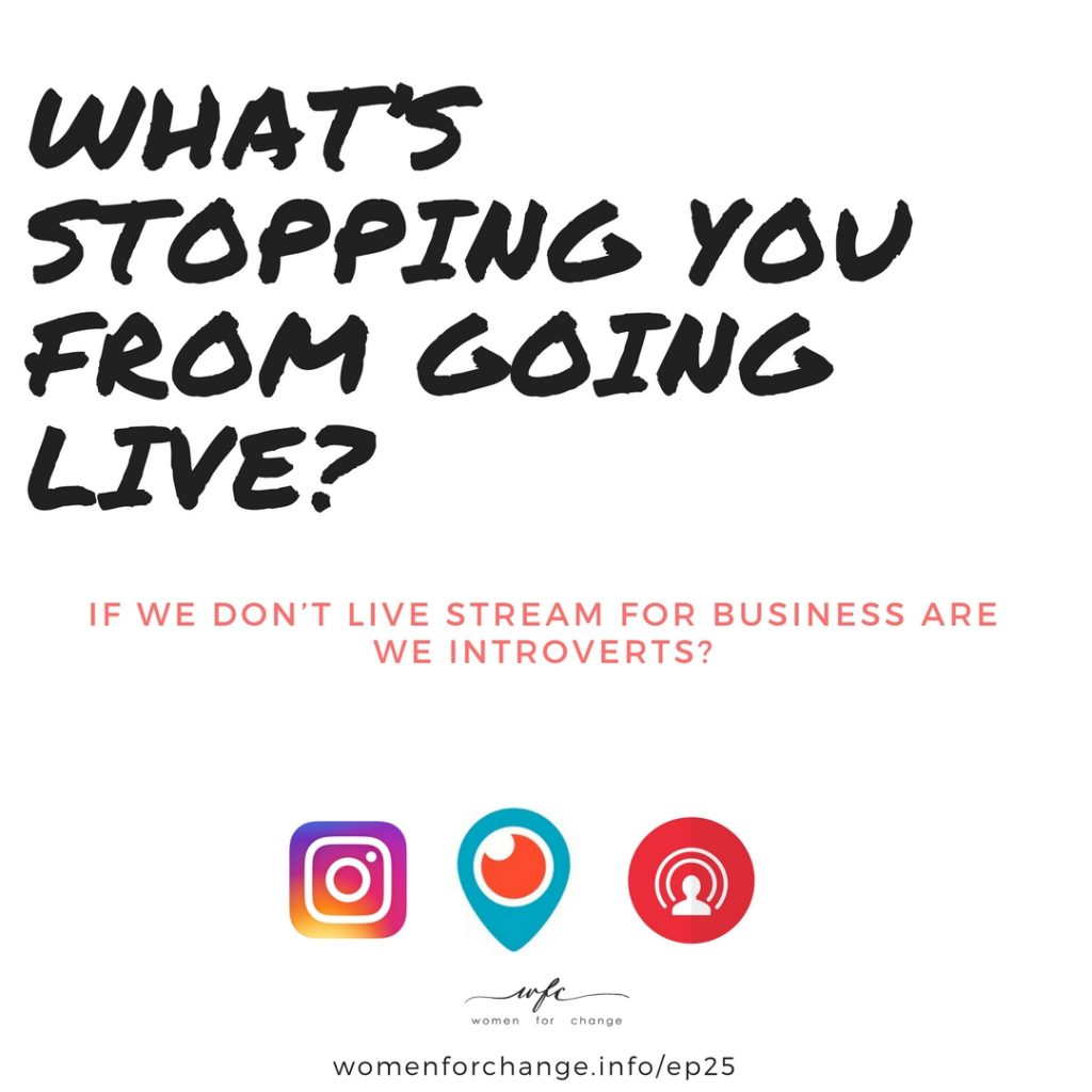 live streaming introvert podcast